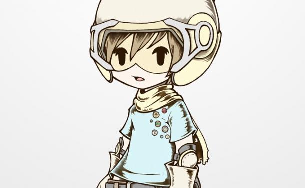 ヘルメット少年