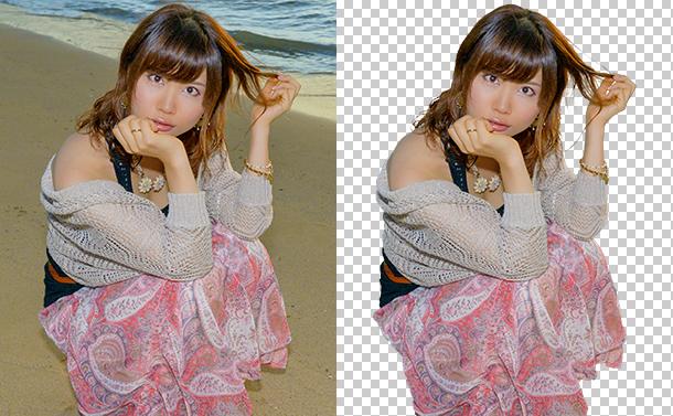 Photoshopで画像から髪の毛を奇麗に切り抜きする方法